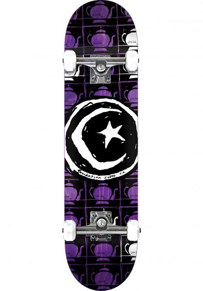 Foundation Skateboard komplett Star & Moon Tea Repeat natural Vorderansicht