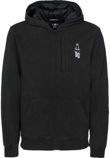 DC Shoes Zip-Hoodies Sk8mafia Stash Fleece black Vorderansicht