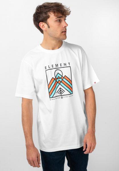 Element T-Shirts Garson opticwhite vorderansicht 0321636