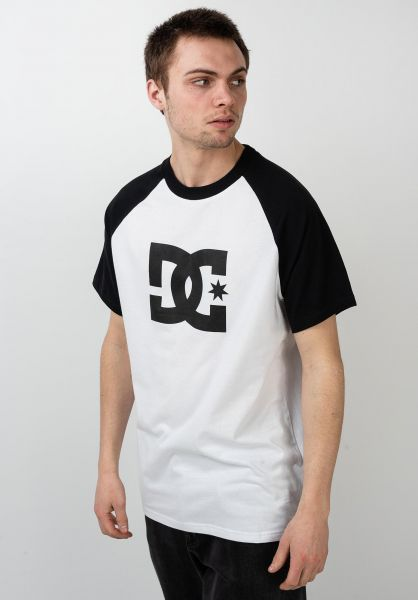 DC Shoes T-Shirts Star Raglan snowwhite-black vorderansicht 0395407