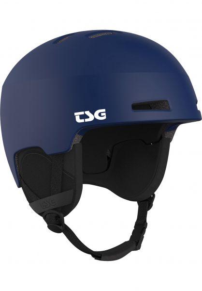 TSG Snowboardhelme Tweak Solid Color satin blue Vorderansicht