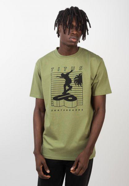 TITUS T-Shirts Merthan green vorderansicht 0399233