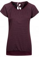Forvert-T-Shirts-Easy-Girls-red-grey-Vorderansicht
