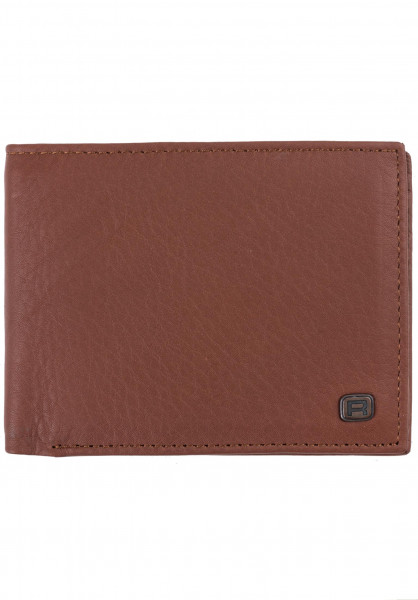 Reell Portemonnaie Button Leather Wallet cognac Vorderansicht