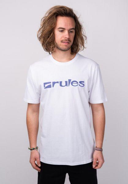 Rules T-Shirts Basic white-purple vorderansicht 0365205
