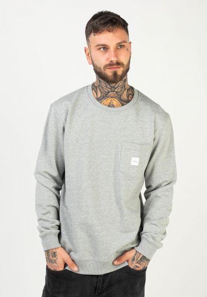 Makia Sweatshirts und Pullover Square Pocket grey vorderansicht 0422690