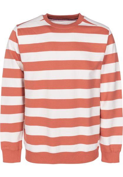 Wemoto Sweatshirts und Pullover Crew Stripe emberglow vorderansicht 0422649
