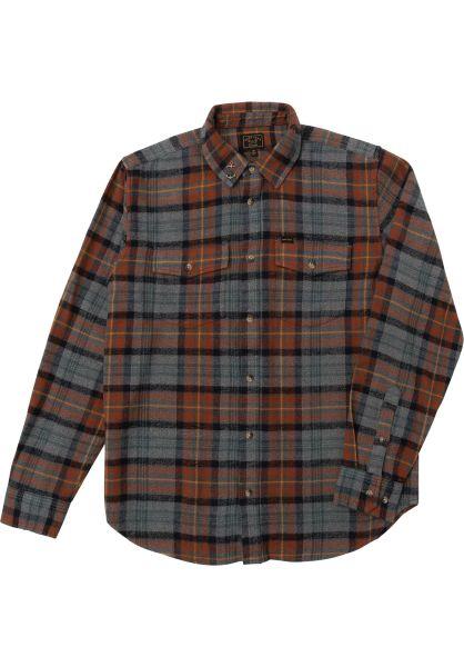 Dark Seas Hemden langarm Albion grey-ginger vorderansicht 0412115