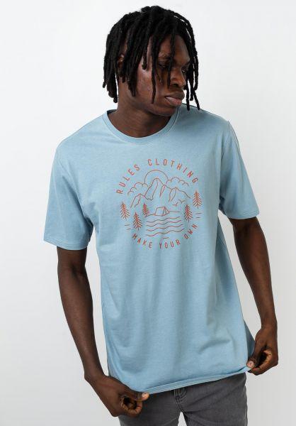 Rules T-Shirts Peak bluegrey vorderansicht 0399959