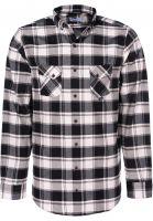 reell-hemden-langarm-check-shirt-black-white-vorderansicht-0411834