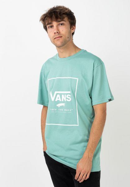 Vans T-Shirts Print Box canton-white vorderansicht 0397887