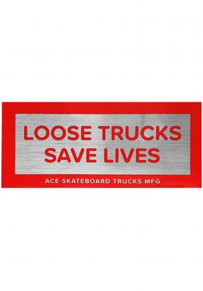 """Ace Verschiedenes Loose Trucks Save Lives Sticker 3.5"""" silver-red vorderansicht 0971864"""