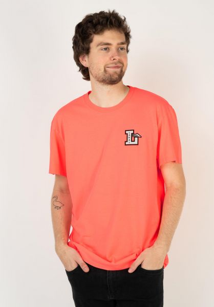 Lakai T-Shirts Letterman coral vorderansicht 0323587