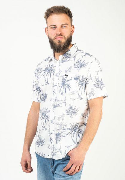 RVCA Hemden kurzarm Panic Point antiquewhite vorderansicht 0401102