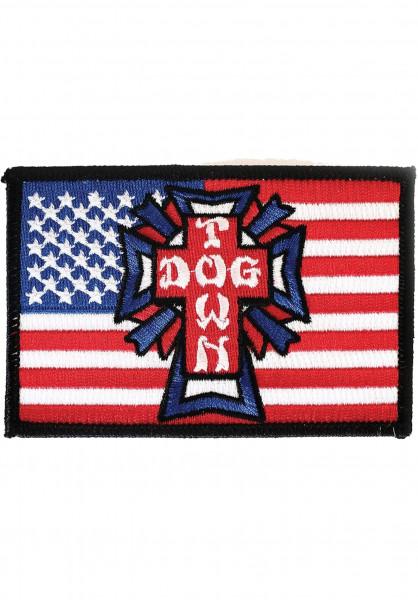 Dogtown Verschiedenes Flag Patch blue-white-red Vorderansicht