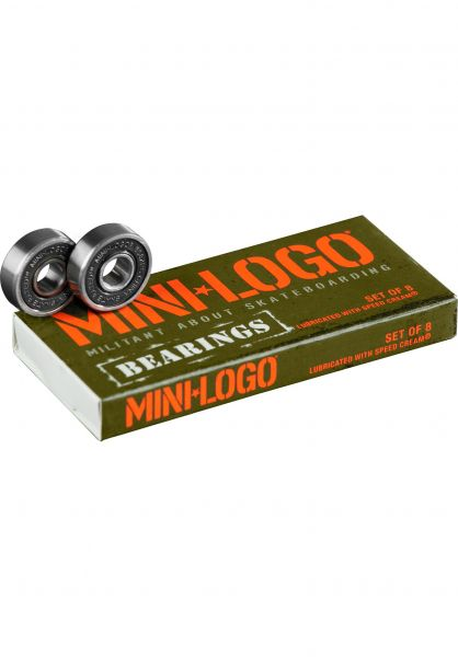 Mini-Logo Kugellager 608ZRS Series 3 black vorderansicht 0180320