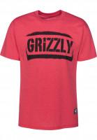 Grizzly T-Shirts Stencil Stamp redheather Vorderansicht