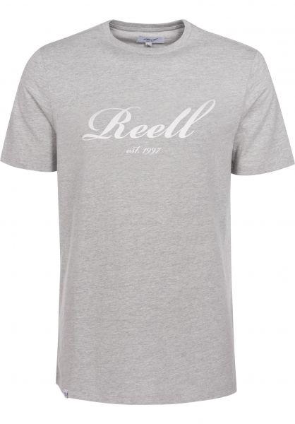 Reell T-Shirts Big Script heathergrey Vorderansicht