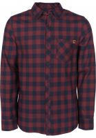 TITUS-Hemden-langarm-Adam-burgundy-navy-checked-Vorderansicht