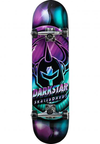 Darkstar Skateboard komplett Anodize aqua-purple vorderansicht 0162873