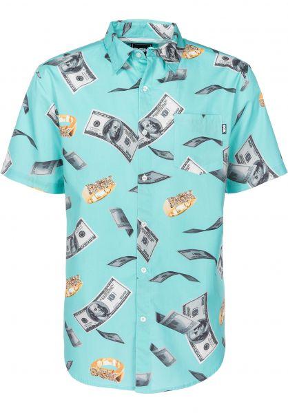 DGK Hemden kurzarm Festive turquoise Vorderansicht