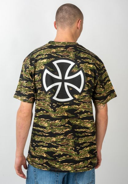 Independent T-Shirts Bar Cross tigercamo vorderansicht 0366763