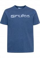 Rules T-Shirts Basic navymottled Vorderansicht