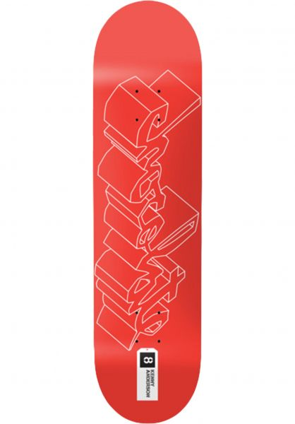 Chocolate Skateboard Decks Anderson 3D Chunk red vorderansicht 0263195