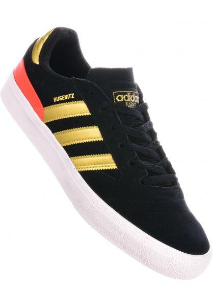 adidas-skateboarding Alle Schuhe Busenitz Vulc II coreblack-gold-solidred vorderansicht 0604761