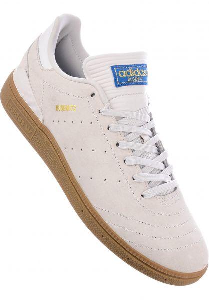 adidas-skateboarding Alle Schuhe Busenitz RX crystalwhite-gum Vorderansicht