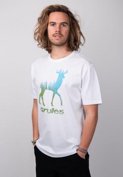 Rules T-Shirts Deer white-olive vorderansicht 0395794