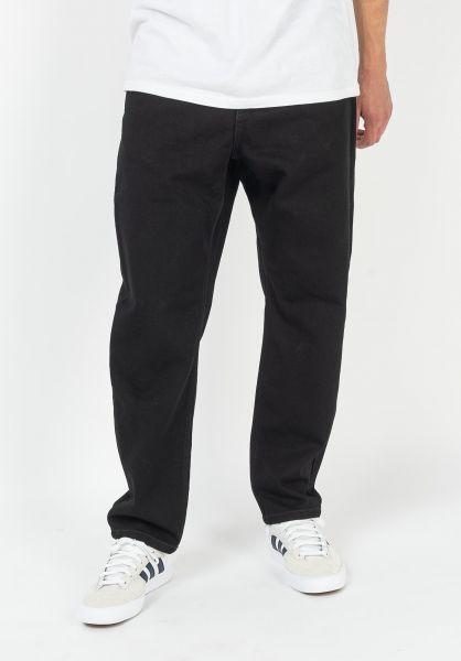 Carhartt WIP Jeans Newel Pant (Cropped) blackrinsed vorderansicht 0227155