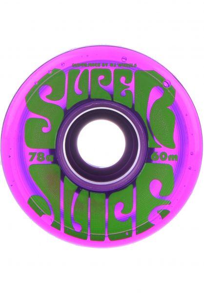 OJ Wheels Rollen Super Juice 78A trans-purple Vorderansicht
