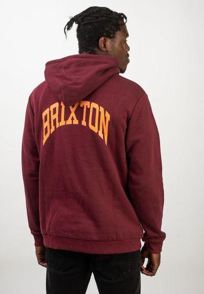 Brixton Hoodies Forte V maroon vorderansicht 0445461