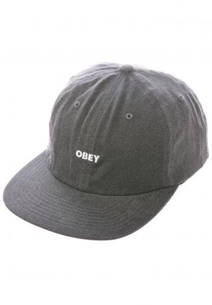 OBEY Caps Pigment black vorderansicht 0567001