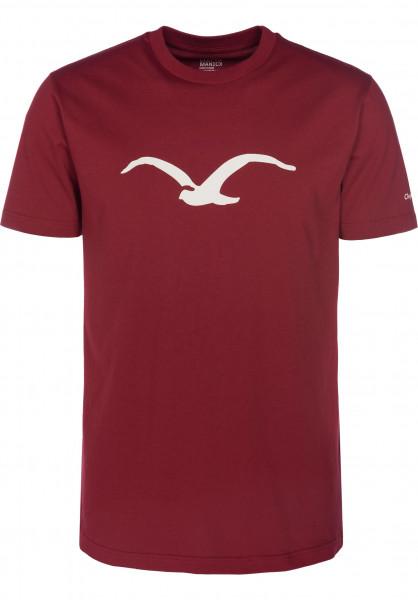 Cleptomanicx T-Shirts Möwe merlot-red Vorderansicht