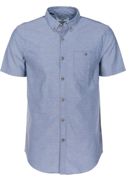 Billabong Hemden kurzarm All Day Oxford blue Vorderansicht
