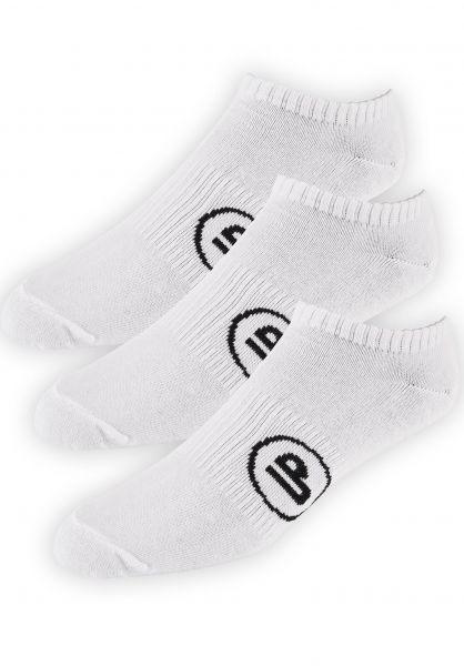 TITUS Socken Classic Icon Short 3er Pack white Vorderansicht