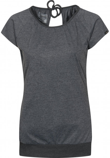 Forvert T-Shirts Celine black-melange Vorderansicht