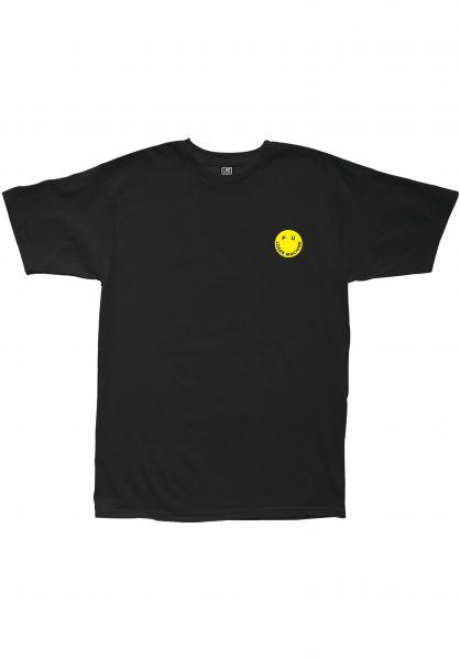 Loser-Machine T-Shirts Smile Embroided black vorderansicht 0399550
