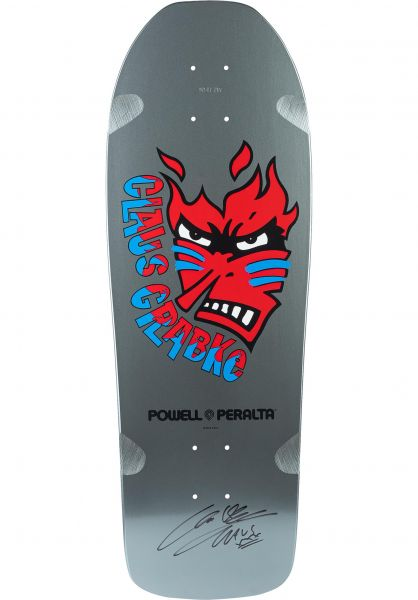 Powell-Peralta Skateboard Decks Claus Grabke Flame Face Limited silver vorderansicht 0263490