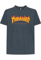 Thrasher T-Shirts Flame darkheather-oneoff Vorderansicht