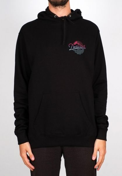 Dedicated Hoodies Falun Outdoor Vibes black vorderansicht 0445140