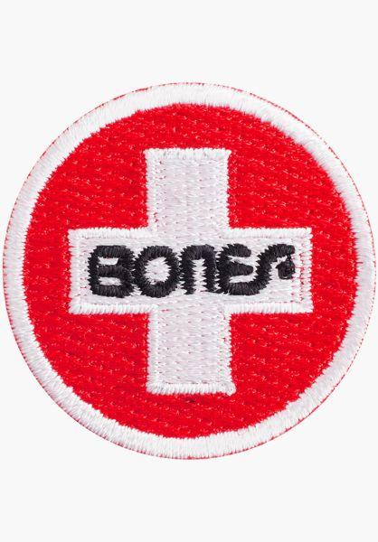 "Bones Bearings Verschiedenes Swiss Circle 1.5"" Patch red vorderansicht 0971835"