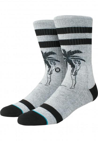 Stance Socken Cheeky Palm grey Vorderansicht