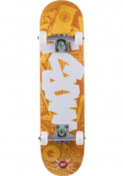 MOB-Skateboards Skateboard komplett Tape Desk Micro Plus orange Vorderansicht