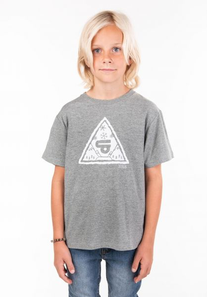 TITUS T-Shirts Forest Triangle Kids greenmottled vorderansicht 0397391