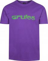 Rules T-Shirts Basic purple Vorderansicht