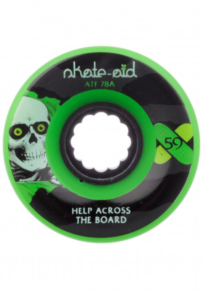 Powell-Peralta Rollen x skate-aid Collabo ATF 78A green Vorderansicht
