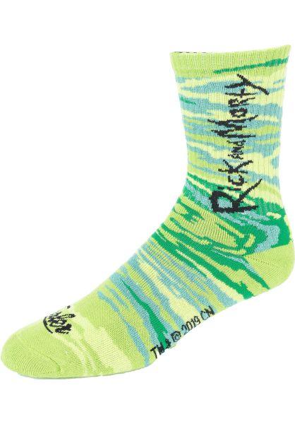 Tealer Socken x Rick & Morty Spirale green vorderansicht 0631949